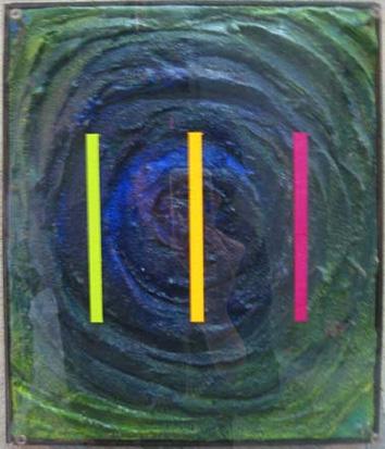 Feel -H- Heart. 320×270 木材パネル.コンクリート.アクリルガッシュ.アクリル板