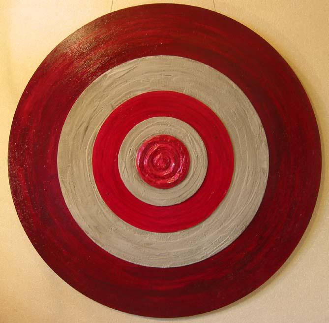 描く「喜び」 850×850 木材パネル.コンクリート.アクリルガッシュ.岩絵具